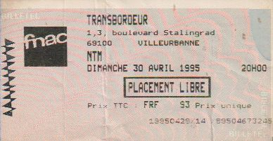 Ticket Suprême NTM