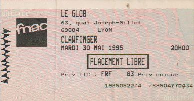 Ticket Clawfinger