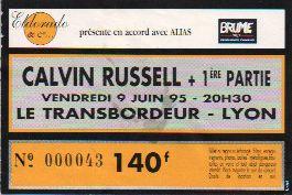 Ticket Calvin Russell