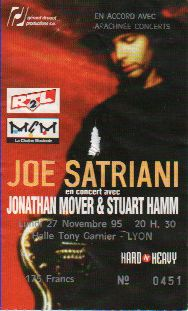 Ticket Joe Satriani