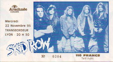 Ticket Skid Row