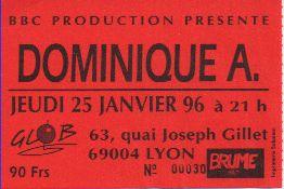 Ticket Dominique A