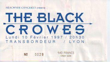 Ticket Black Crowes