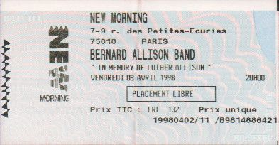 Ticket Bernard Allison