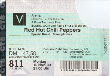 Ticket Red Hot Chili Peppers