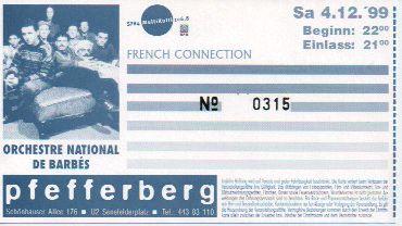 Ticket Orchestre National de Barbès