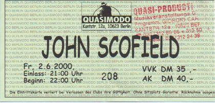 Ticket John Scofield