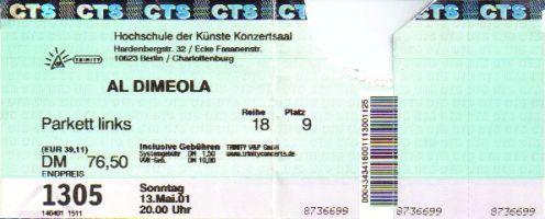 Ticket Al Di Meola