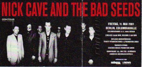 Ticket Nick Cave