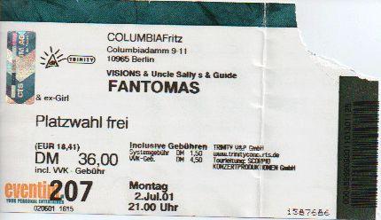 Ticket Fantomas