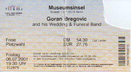 Ticket Goran Bregovic