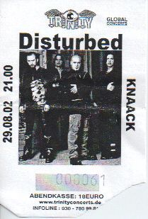 Ticket Disturbed