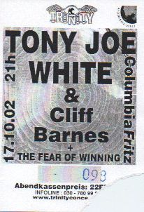 Ticket Tony Joe white