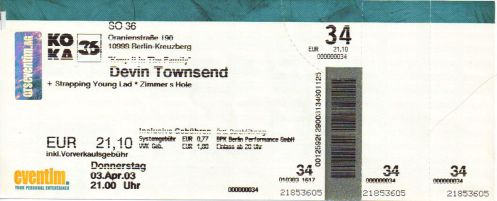 Ticket Devin Townsend
