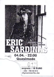 Ticket Eric Sardinas