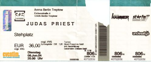 Ticket Judas Priest