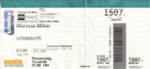 Ticket Marcus Miller