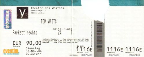 Ticket Tom Waits