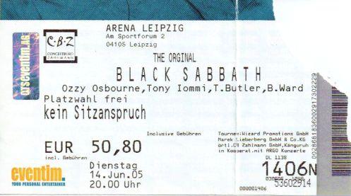 Ticket Black Sabbath
