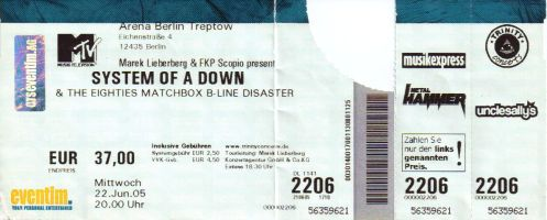 Ticket System of a Down