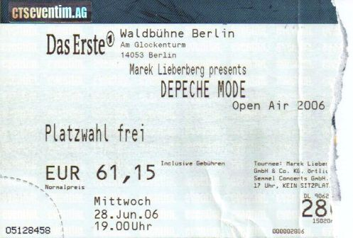 Ticket Depeche Mode