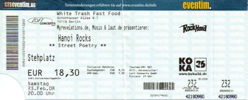Ticket Hanoi Rocks