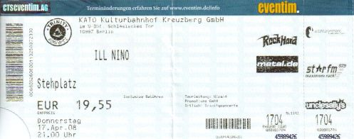 Ticket Ill Nino