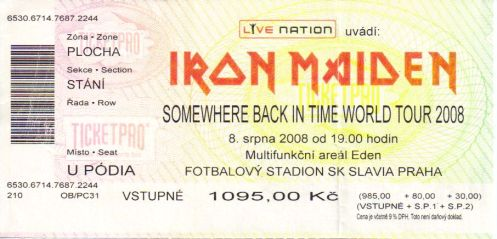 Ticket Iron Maiden
