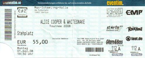 Ticket Alice Cooper & Whitesnake