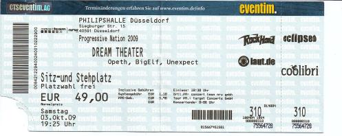 Ticket Dream Theater