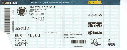 Ticket The Cult