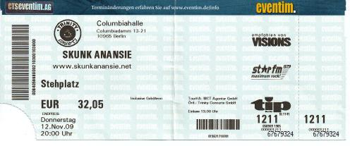 Ticket Skunk Anansie