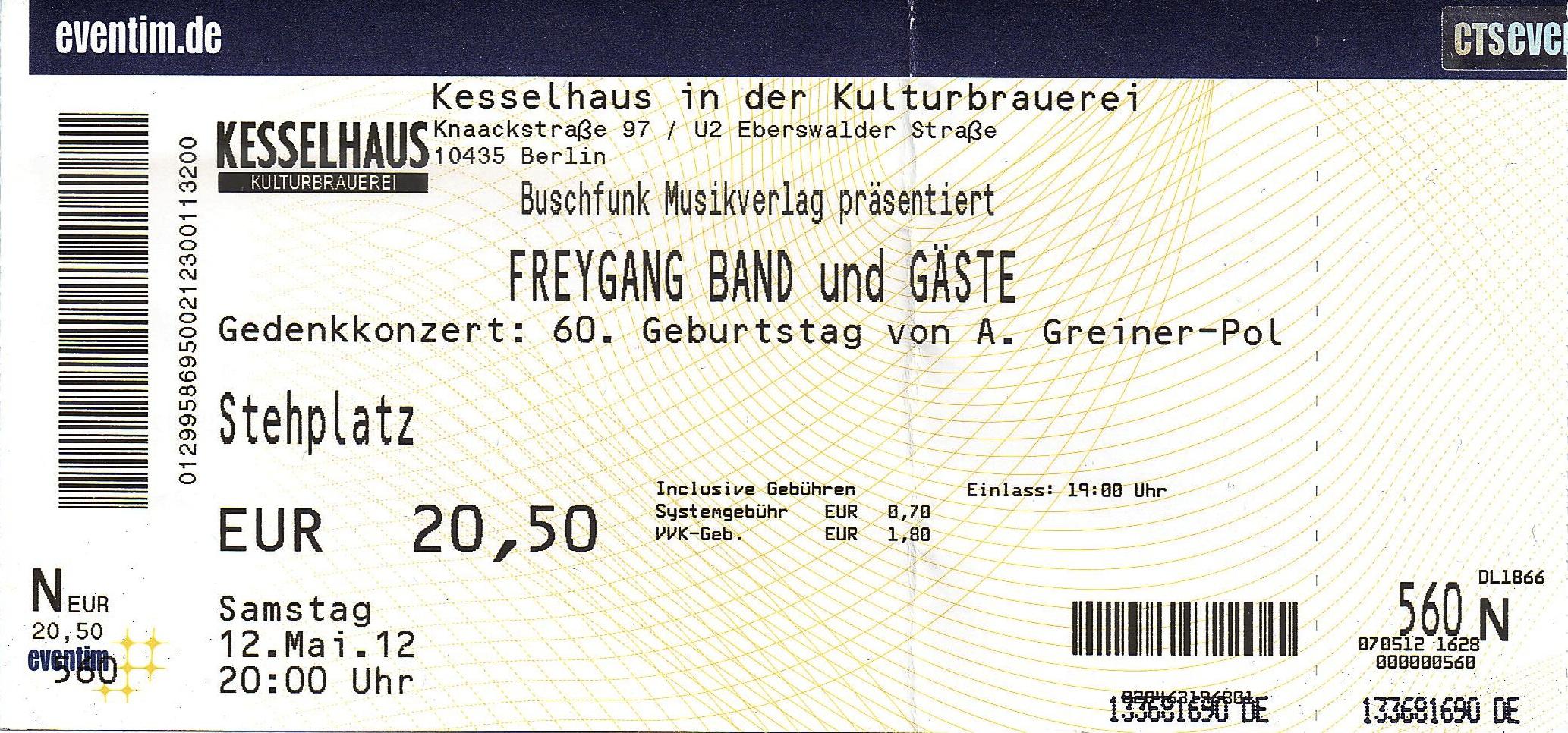 Freygang Kesselhaus Berlin De Concert Listing