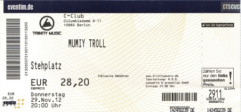 Ticket Mumiy Troll