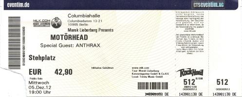 Ticket Motörhead