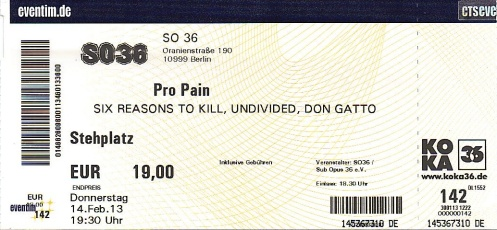 Ticket Pro Pain
