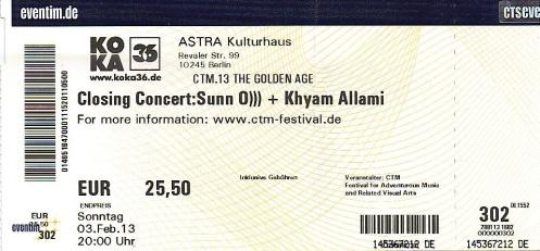 Ticket Sunn O)))