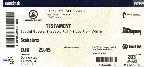 Ticket Testament