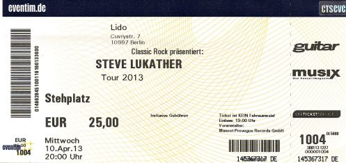 Ticket Steve Lukather
