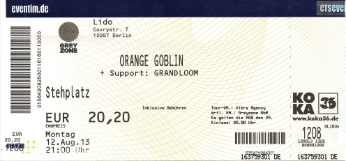 Ticket Orange Goblin