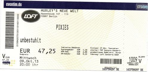 Ticket Pixies