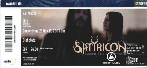 Ticket Satyricon