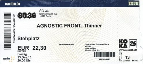 Ticket Agnostic Front