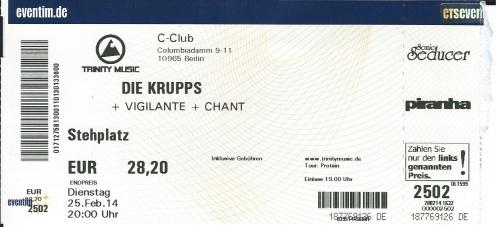 Ticket Die Krupps