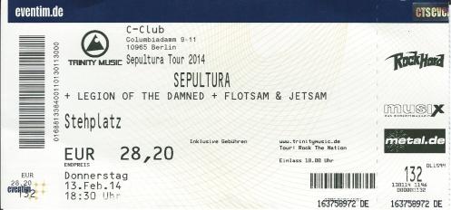 Ticket Sepultura