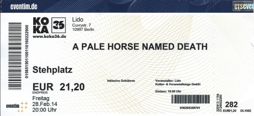 Ticket A Pale Horse Named Death