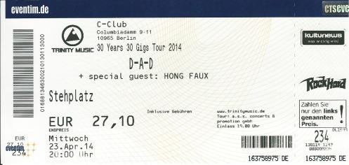 Ticket D:A:D
