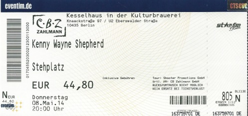 Ticket Kenny Wayne Shepherd
