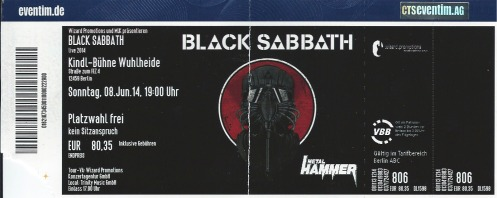 Ticket Black Sabbath