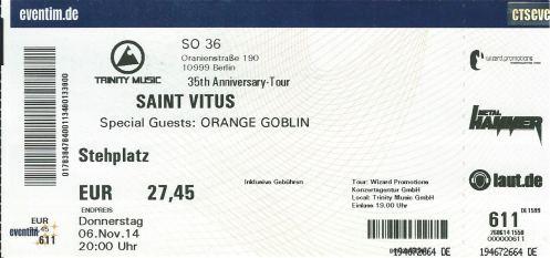 Ticket Saint Vitus